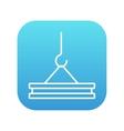 Crane hook line icon vector image vector image