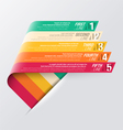 Curved strips - design template vector image vector image