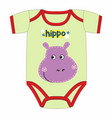 cute clothes for newborn with hippo vector image