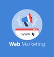 digital marketing online campaign vector image