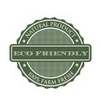 eco-friendly product seal logo vector image vector image