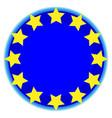 european union symbol vector image vector image