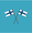 finland flag icon in flat design vector image