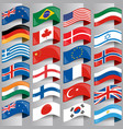 flags european nations vector image