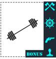 free flex gear crossbar icon flat vector image