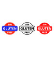 gluten free icon spanish sin gluten food package vector image