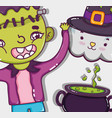 halloween and kids cartoons vector image
