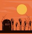 halloween scary cartoons vector image vector image