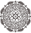hand drawn flower mandala Ethnic ornament vector image vector image