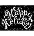 Happy Holiday poster vector image vector image