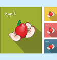 Icons with apples vector image vector image