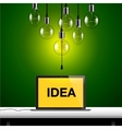 Idea concept Light bulbs background vector image