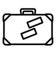 isolated suitcase icon vector image vector image