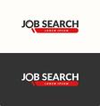 Job search logo vector image