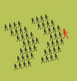leadership and teamwork concept the crowd of vector image vector image