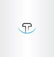letter t logo symbol element design vector image vector image