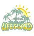 lifeguard symbol vector image