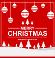 merry christmas card and happy new year vector image vector image