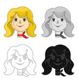 mother icon in cartoon style isolated on white vector image