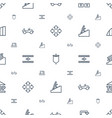 move icons pattern seamless white background vector image vector image