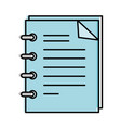 note book isolated icon vector image vector image