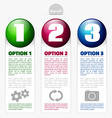 Option banners with place for text vector image vector image