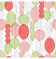 pattern of colorful balloons vector image vector image