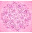 Pink vintage doodle flowers background vector | Price: 1 Credit (USD $1)