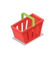 plastic shopping basket isometric 3d icon vector image vector image