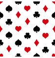playing cards symbols set seamless pattern eps10 vector image