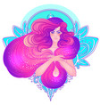 pretty fairy elf portrait young woman view vector image