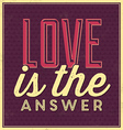 Quote Typographic Valentines Day Background vector image vector image