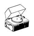 record player on a white background vector image