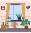 room interior plants growing in pots home decor vector image vector image