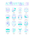 set line flat icons accounting vector image