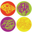 set of icons with abstract figures vector image vector image