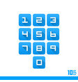 set of numbers buttons vector image