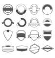 set sixteen badges logos borders ribbons vector image