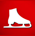 skating icon vector image vector image
