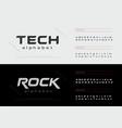 sport technology alphabet letters font set modern vector image vector image
