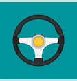 steering wheel in flat style vector image vector image