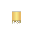 Stop button computer symbol vector image vector image