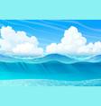 summer sea ocean underwater vector image