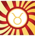 Taurus abstract icon vector image vector image
