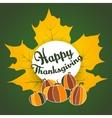 thanksgiving ethnic maple leaf pumpkin doodle vector image
