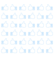 Thumbs up - seamless background vector image vector image