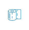 toilet paper linear icon concept toilet paper vector image vector image
