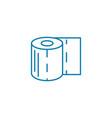 toilet paper linear icon concept toilet paper vector image