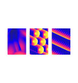 universal gradient geometric posters set vector image vector image
