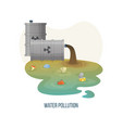 water pollution river with sewer and dirt waste vector image